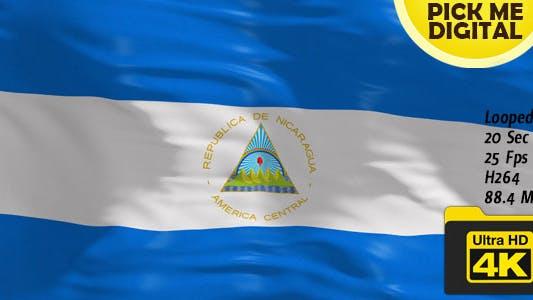 Thumbnail for Nicaragua Flag 4K