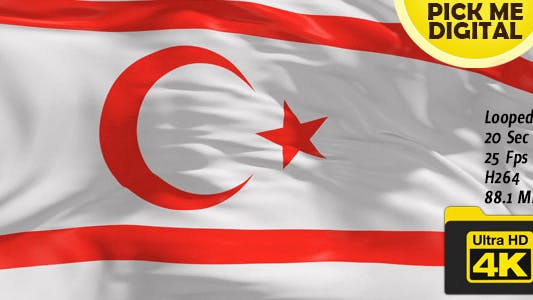 Thumbnail for Northern Cyprus Flag 4K