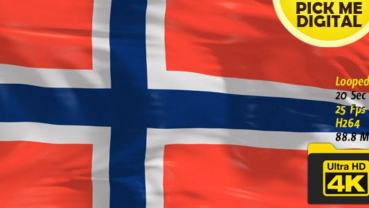 Cover Image for Norway Flag 4K