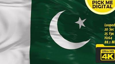 Pakistan Flag 4K