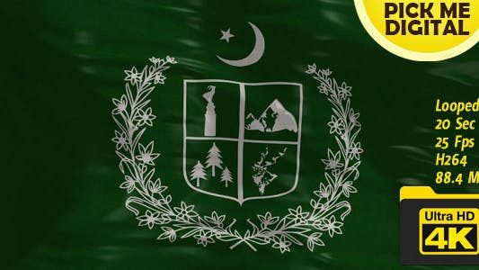 Thumbnail for Pakistan-Gilgit Baltistan Flag 4K