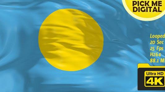 Cover Image for Palau Flag 4K