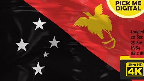 Papua New Guinea Flag 4K