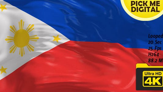 Thumbnail for Philippines Flag 4K