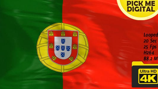 Thumbnail for Portugal Flag 4K