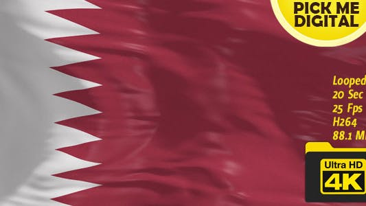 Thumbnail for Qatar Flag 4K