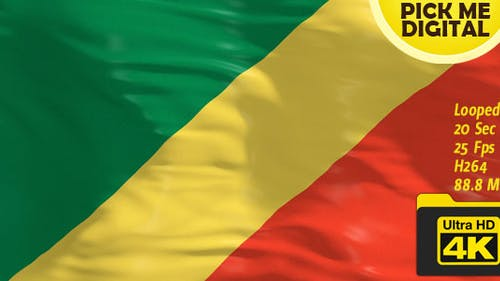 Republic of the Congo Flag 4K