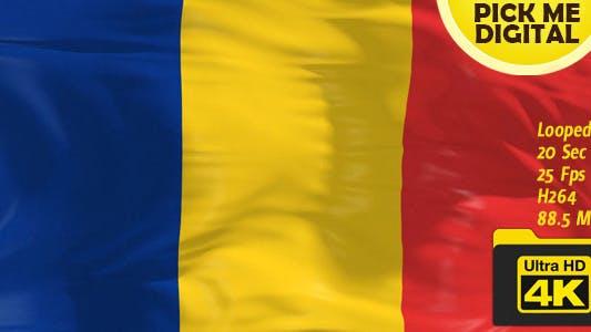Thumbnail for Rumänien Flagge 4K