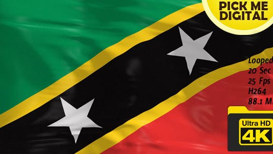 Cover Image for Saint Kitts and Nevis Flag 4K