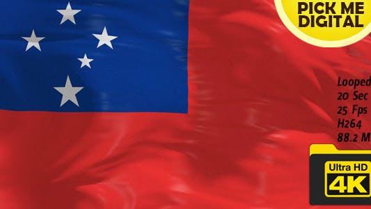 Samoa Flag 4K