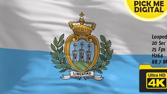 Thumbnail for San Marino Flag 4K