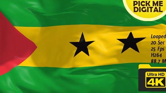 Cover Image for Sao Tome and Principe Flag 4K