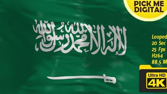 Thumbnail for Saudi Arabia Flag 4K