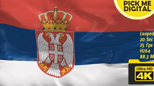 Cover Image for Serbia Flag 4K