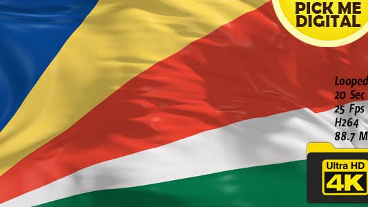 Cover Image for Seychelles Flag 4K