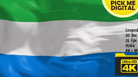 Thumbnail for Sierra Leone Flag 4K