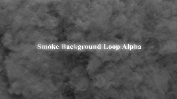 Smoke Background Loop Alpha 4K