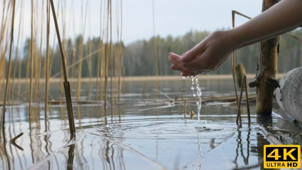 Thumbnail for Water Drops From the Hand To the River