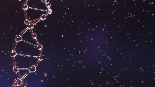 Cover Image for Transparent DNA Molecule and Floating Particles