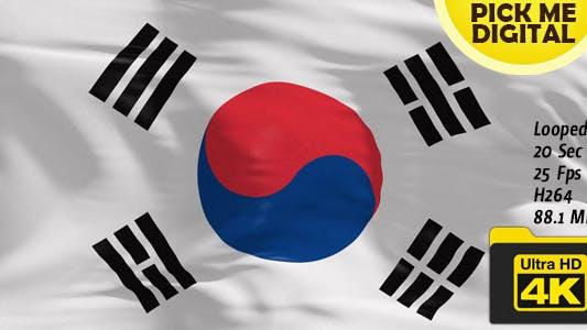 Thumbnail for South Korea Flag 4K