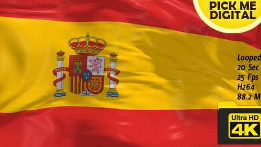 Thumbnail for Spain Flag 4K