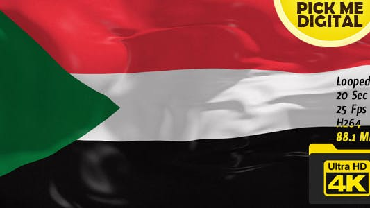 Thumbnail for Sudan Flag 4K
