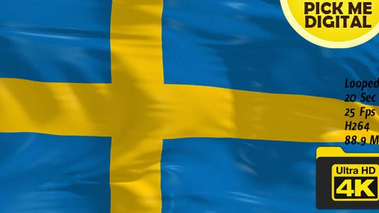 Thumbnail for Sweden Flag 4K