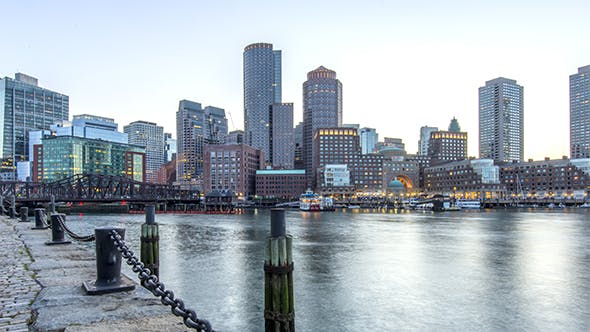 Thumbnail for Boston , USA - The Skyline During the Blue Hour