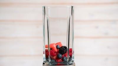 Berries Appear in a Blender