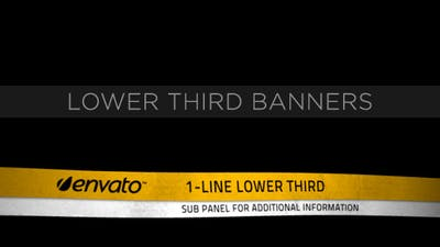 Lower Third Ribbon Banners