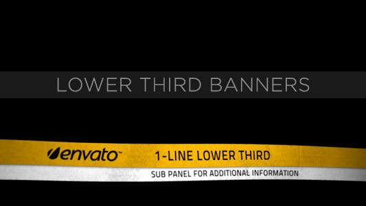 Thumbnail for Lower Third Ribbon Banners