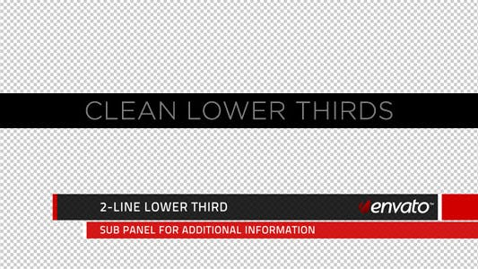 Thumbnail for Clean Lower Thirds and Titles