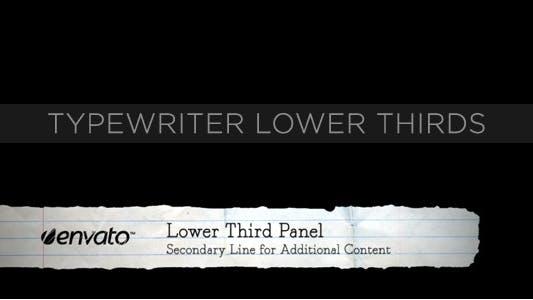 Thumbnail for Typewriter Lower Thirds