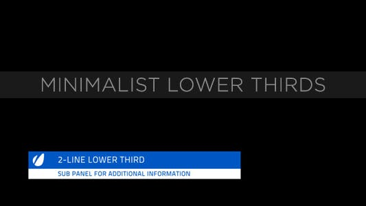 Thumbnail for Minimalist Lower Thirds