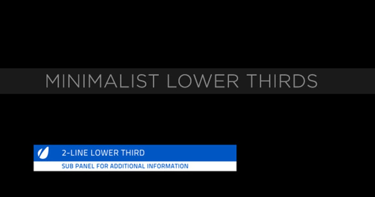 Download Minimalist Lower Thirds by MotionRevolver