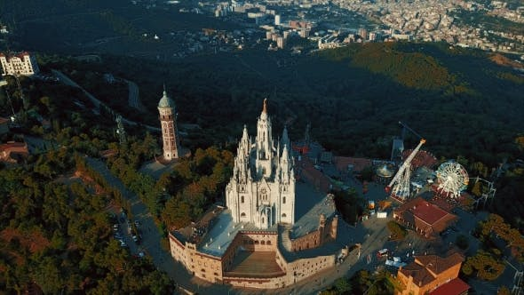 Thumbnail for Tibidabo Mountain, Barcelona, Catalonia, Spain.