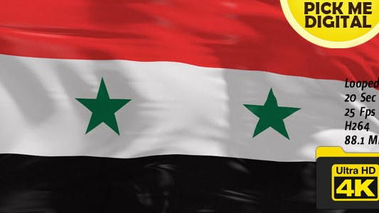 Cover Image for Syria Flag 4K