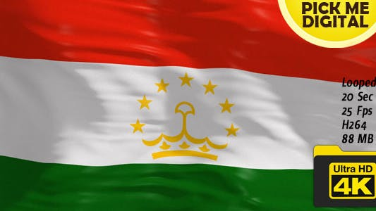 Thumbnail for Tajikistan Flag 4K
