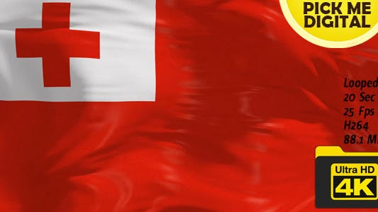Thumbnail for Tonga Flag 4K