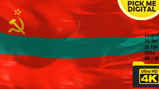 Thumbnail for Transnistria Flag 4K
