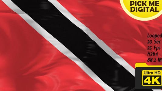 Thumbnail for Trinidad and Tobago Flag 4K