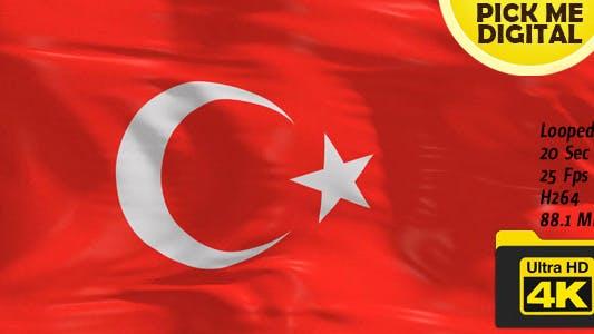 Cover Image for Turkey Flag 4K