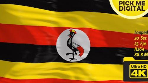 Uganda Flag 4K