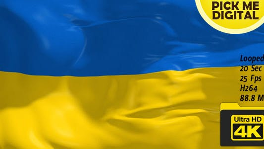 Thumbnail for Ukraine Flag 4K