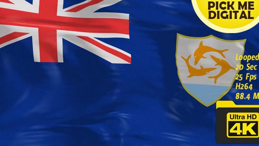 Thumbnail for UK-Anguilla Flag 4K
