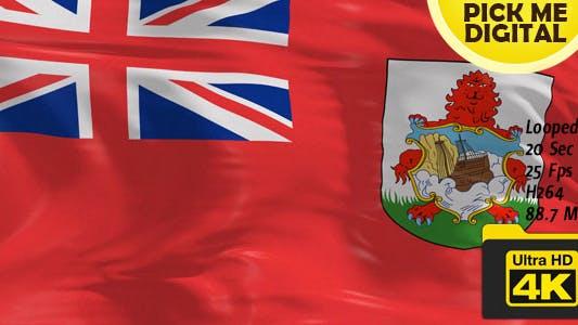 Thumbnail for UK-Bermuda Flag 4K