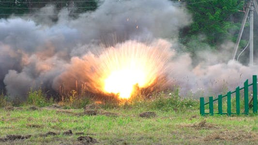 Thumbnail for War. Artillery Shelling.