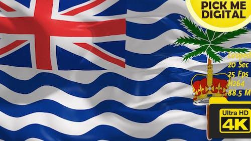 UK-British Indian Ocean Territory Flag 4K