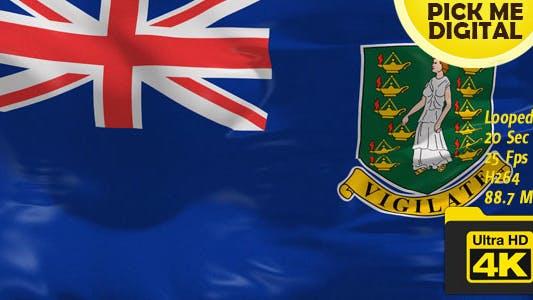 Cover Image for UK-British Virgin Islands Flag 4K