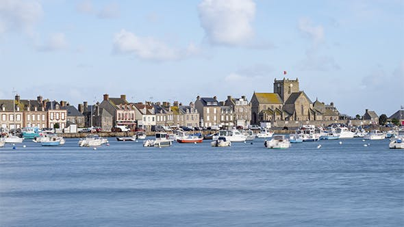 Thumbnail for Barfleur, Normandy, France - The port during the daytime